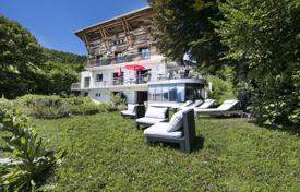 Luxury houses for sale in Haute-Savoie. Luxury villa with a pool and a sauna, with a beautiful view of the Tallories Bay and the La Tournette Massif, Annecy, Alpes, France