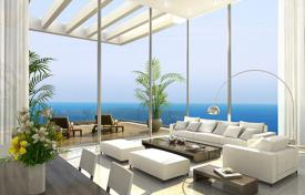 Apartments with pools by the sea for sale in Center District. Apartment with balcony and sea view in a residence with a gym and a pool, in Netanya, Israel