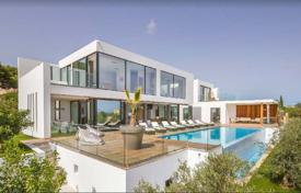 Luxury 5 bedroom villas and houses to rent in Spain. High-tech villa with a swimming pool and a sea view in Sa Carrocca, Ibiza, Spain