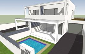 Off-plan residential for sale overseas. The villa with roof top terrace under construction in Montseny, Empuriabrava, Girona, Spain