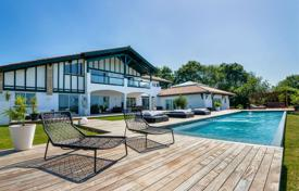 Luxury residential for sale in Nouvelle-Aquitaine. Two-level Basque style villa with two swimming pools, Ahetze, Aquitaine, France