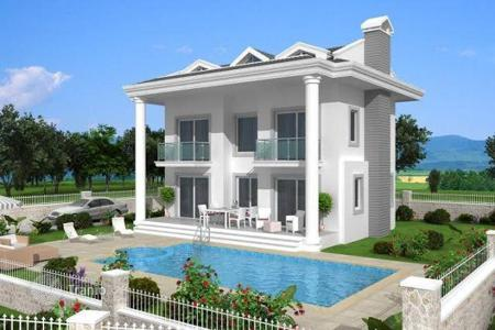 4 bedroom off-plan houses for sale overseas. Villa with the view of the sea and mountains in Ovacik