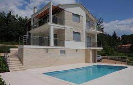 Coastal property for sale in Opatija. New villa with pool and panoramic views of the Kvarner Bay in Opatija and islands