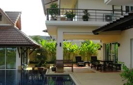 Houses for sale in Thailand. Two-storey furnished villa with pool, garden and parking near the British International School in Phuket