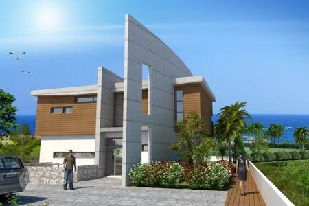 5 bedroom houses for sale in Famagusta. Luxurious Five Bedroom Sea Front Villa with Panoramic Views