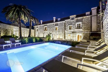 Property for sale in Dubrovnik Neretva County. Unique stone mansion of the 15th century with pool and beautiful views of the sea, near the beach, in the Old Town of Dubrovnik, Croatia