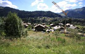 Development land for sale in France. Land for construction of a chalet in the resort town of Morzine