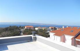 Apartments for sale in Selca. A modern building with a swimming pool in Selce