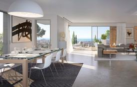 New homes for sale in France. Modern apartment with a terrace in a new elite residential complex, near the sea, Nice, France