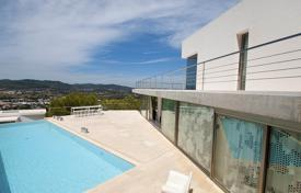 Luxury houses for sale in Balearic Islands. Designer villa with panoramic views, a terrace and a pool, Ibiza, Spain