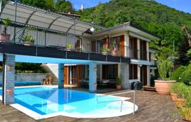 5 bedroom houses for sale in Piedmont. Elite villa with a terrace, a pool and lake views, Miasino, Piedmont, Italy