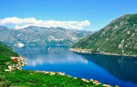 Coastal development land for sale in Tivat. Plot with a magnificent sea view
