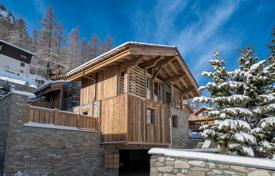 Houses for sale in Alps. Luxury two-storey chalet with a garden and an additional area, 300 meters from the city center, next to the ski lift, Val d'Isere, Alps