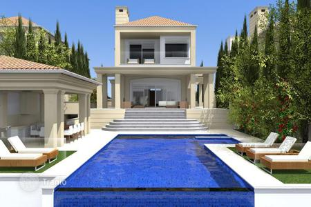 Luxury 4 bedroom houses for sale in Paphos. Elite residential complex of 5 villas with panoramic views of the sea, 50 meters from the beach in Kissonerga, Paphos