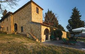 Houses with pools for sale in Montespertoli. Ancient two-storey villa with an olive plantation in Montespertoli, Tuscany, Italy