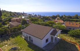 Houses with pools for sale in Sanremo. Three-storey villa with a private garden, in a 5-minute drive away from the sea, in San Remo, Liguria, Italy