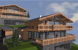 Off-plan houses for sale in Alps. Three-storey chalet on the slopes, Saalbach-Hinterglemm, Austria. Sale under construction!