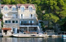 Luxury houses for sale in Croatia. Stone villa on the front coastline near a small port, Pelješac peninsula, Croatia. High rental potential!