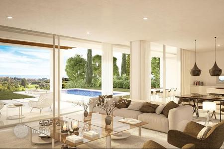 Houses for sale in Marbella. Spacious villas with pools and a sea view, in a guarded residential complex, close to the beaches, Marbella, Spain