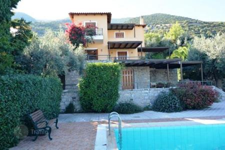 Coastal residential for sale in Epidavros. Sea view villa with garden, swimming pool, church, in Peloponnese, Greece