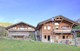 Luxury houses for sale in Haute-Savoie. Two new chalets with a pool and a garage, in the popular area of Mont d'Arbois, Megeve, Alpes, France