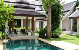 Houses with pools from developers for sale overseas. Balinese villa 250 meters from the beach on Samui island