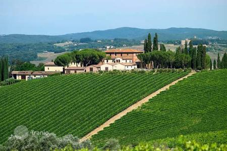 Vineyards for sale in Europe. Winery with historic villa in Tuscany, Italy