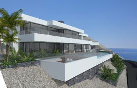 Houses with pools by the sea for sale in Altea. New three-level villa with panoramic sea views in Altea, Alicante, Spain