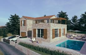 Houses with pools for sale in Rogoznica. Stylish villa with a terrace, a pool and sea views, near the beach, Rogoznica, Šibensko-Knin County, Croatia