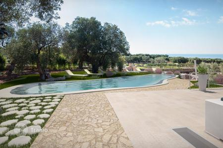 Luxury houses with pools for sale in Apulia. New villa with a swimming pool, a garden and a guest house, Santa Maria di Leuca, Italy