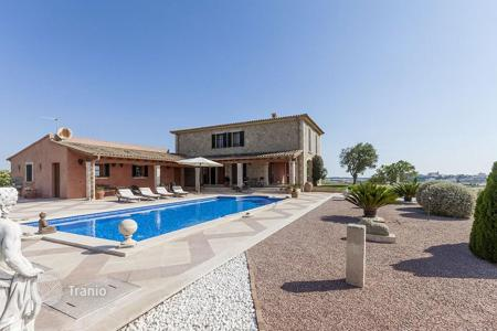 Luxury 3 bedroom houses for sale in Majorca (Mallorca). Comfortable villa in Maria de la Salud, Mallorca, Spain. Terrace with a swimming pool, large garden, sauna, two garages