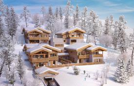 Luxury 4 bedroom houses for sale in Auvergne-Rhône-Alpes. Elite chalet with a terrace, 500 meters from the center of the resort and ski lifts, Les Gets, Alpes, France