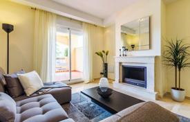 Penthouses for sale in Marbella. Duplex apartment with a terrace in a new residence with a pool, a garden and a parking, close to the beach, Nueva Andalucia, Spain