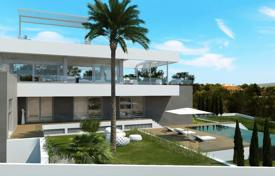 Luxury houses with pools for sale in Majorca (Mallorca). Contemporary villa with garden, terrace, 2 pools and stunning sea view in Nova Santa Ponsa, Mallorca, Balearic Islands, Spain