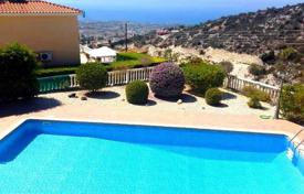 4 bedroom houses by the sea for sale in Paphos (city). Comfortable villa with garden and pool, with panoramic views of the sea, Cyprus