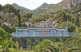 Houses with pools for sale in Èze. Modern villa overlooking the sea with a private garden and a swimming pool, Eze, France