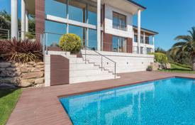 Luxury 4 bedroom houses for sale in Costa Brava. Modern villa with a pool, a garden and panoramic sea views, Castell Platja d'Aro, Spain