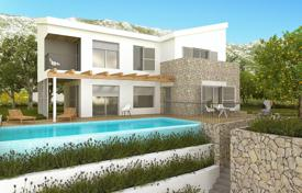 3 bedroom houses for sale in Dalmatia. Two-level villa with a plot, a pool and terraces, Omis, Croatia
