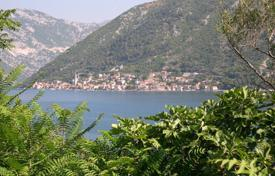 Coastal development land for sale in Tivat. Land plot with building project in Boka Bay