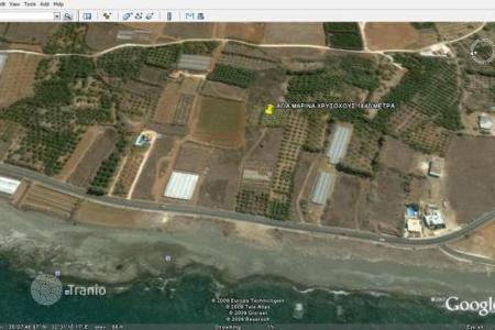 Coastal land for sale in Paphos. Large Plot of Land, Close to Sea — Agia Marina