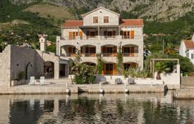 Luxury property for sale in Risan. Seaview villa on a plot with a garden, a swimming pool and a garage, on the Bay of Kotor coast, Risan, Kotor