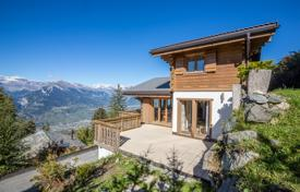 Chalets for sale in Alps. Three-storеy chalet with panoramic windows and views of the Alps, Nanda, Switzerland