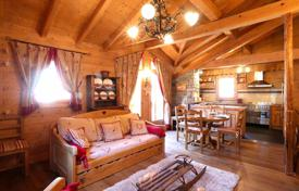 Houses for sale in Savoie. Comfortable chalet with a fireplace in a ski resort, Courchevel, France