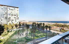 Luxury 4 bedroom apartments for sale in Catalonia. Furnished apartment with a terrace on the first line from the sea in Barcelona, Spa