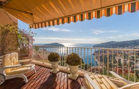 Apartments for sale in Villefranche-sur-Mer. Two-level seaside penthouse with high-end repair and sunny terraces in a secured residence with a pool, Villefranche-sur-Mer, France