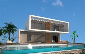 Property for sale in Fustera. 3 bedroom avant-garde design villa with private pool, underbuild and open views to the sea and the city in Benissa