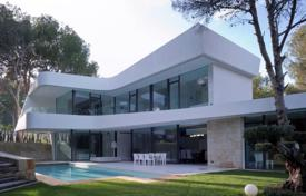 Coastal houses for sale in Costa Blanca. New two-level villa with a pool and a sauna in Altea, Alicante, Spain