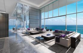 Spacious apartments with views of the city and the Atlantic Ocean in a residence with a private beach, pools and a sauna, Miami Beach, USA. Price on request