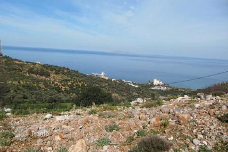 Cheap land for sale in Crete. Beautiful plot of land with magnificent views of the sea and the mountains in the village Rodya