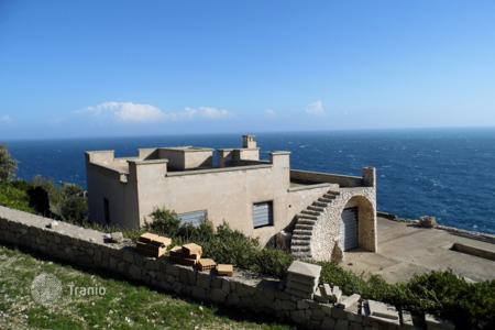 Off-plan houses for sale in Southern Europe. Two villas under construction, on the Adriatic cliff, with a terrace and a garden, Santa Maria di Leuca, Italy